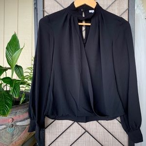 H&M Black Flowy Cut Out Back Small